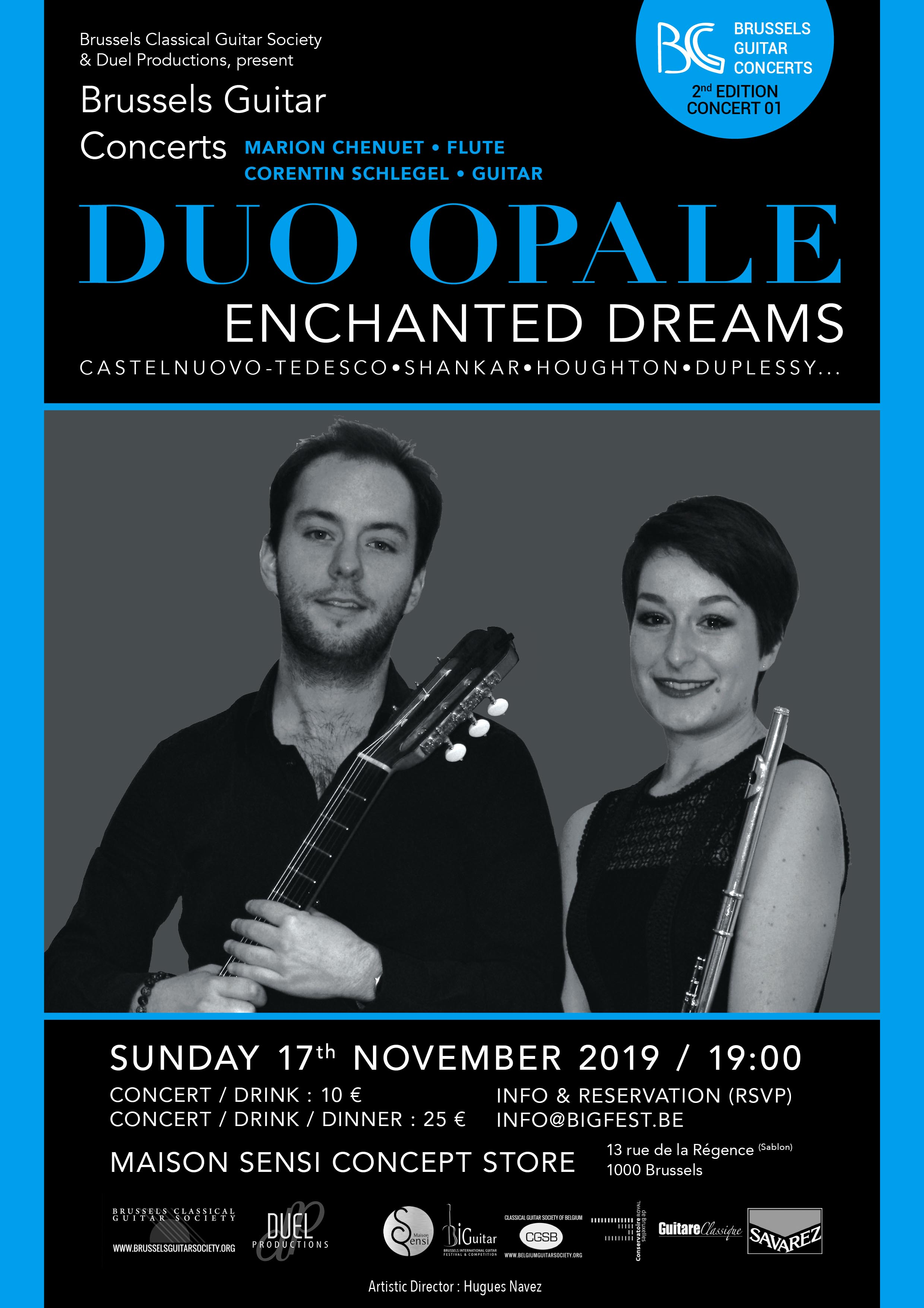 Duo Opale (Marion Chenuet & Corentin Schlegel) - « Enchanted Dreams » - Brussels Guitar Concerts