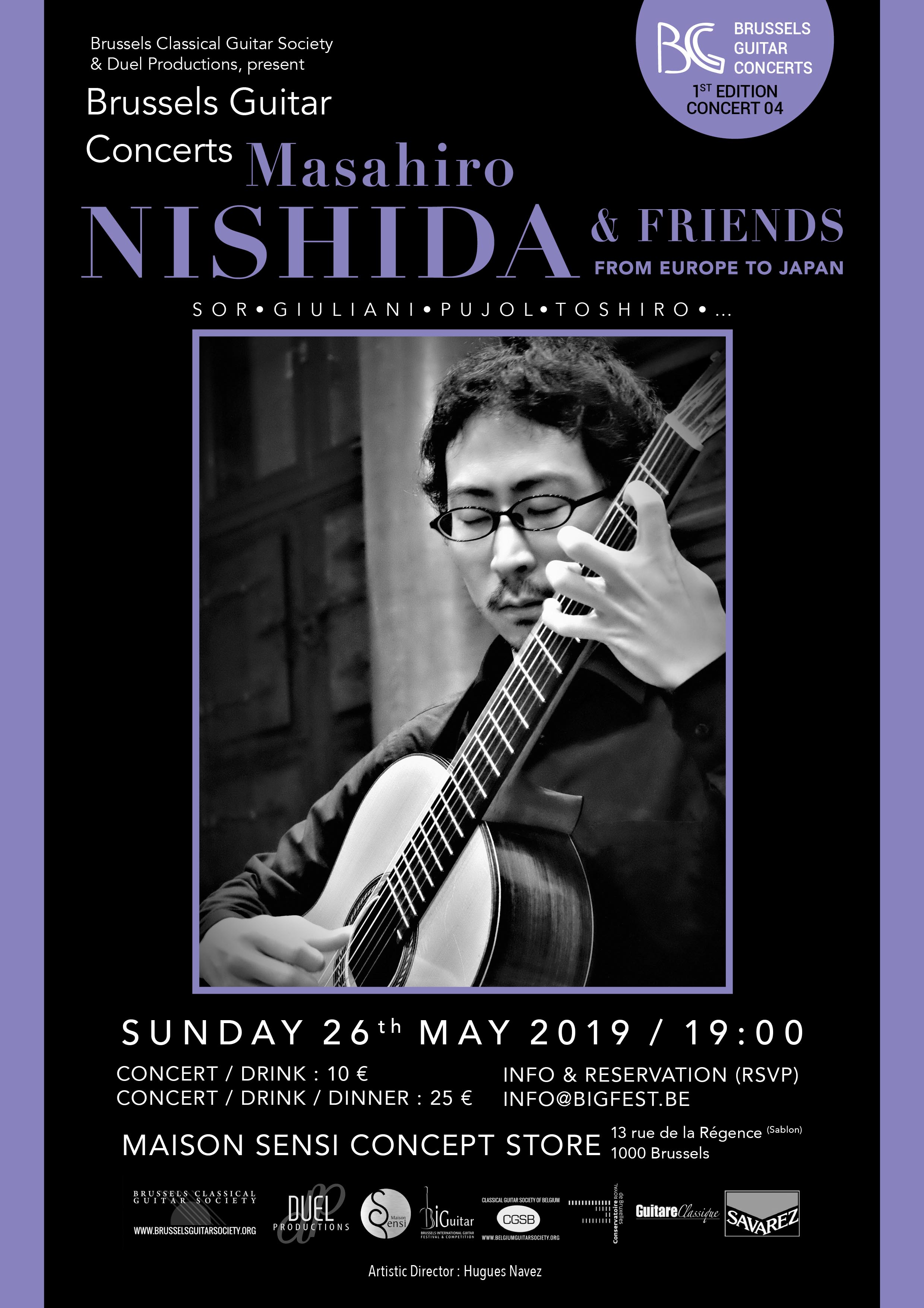 Masahiro Nishida - « From Europe to Japan » - Brussels Guitar Concerts